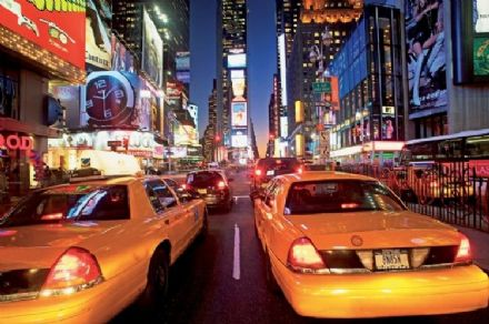 New York Taxi Cabs paper wallpaper